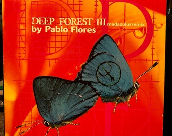"""DEEP FOREST III """"Madazulu/remix by Pablo Flores"""" vinyl record from 1997, French import"""