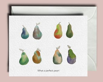 Perfect Pear Greeting Cards