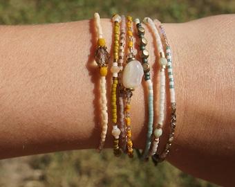 Seed Bead Bracelets (Set of Seven)