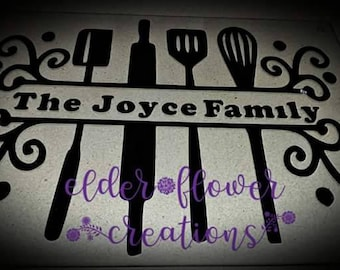 Personalised glass kitchen work top saver. Perfect gift