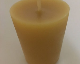 100% pure beeswax votive candle refills