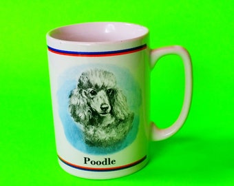 Poodle Dog Breed Illustrated American Artist Ruth Maystead Collection Pet Love Fur Baby Kitschy Vintage 1980s Coffee Mug