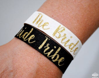 Bride Tribe Team Bride Hen Party Wristbands - Bachelorette Hen Party - Wristband - Bracelets - Favours - Hen Do Accessories