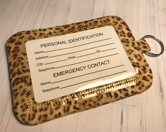 Id Badge Card Holder Wallet Animal Print