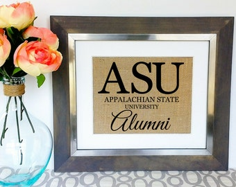 Personalized College Graduation Gift {ANY college} Name of University Alumni Sign Gift for College Graduate Graduating Alma Mater Burlap Art