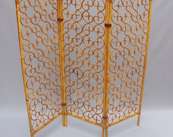 French Rattan Room Divider (c. 1960s)