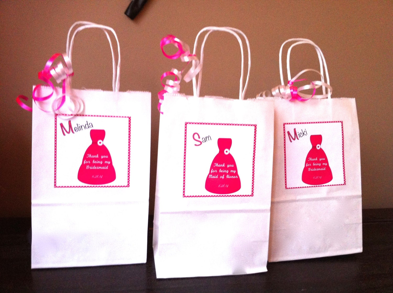 Bridesmaid Gift Bag Wedding Party Thank