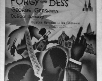 It Ain't Necessarily So, vintage sheet music by George Gershwin DuBose Heyward amd Ira Gershwin, Porgy and Bess 1935 with Guitar tablature