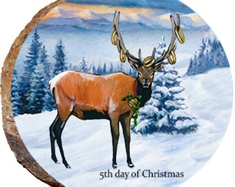 5th Day of Christmas Elk - DX217