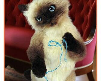 Cat Sewing pattern, Stuffed animal Pattern, PDF Cat Pattern, Plush Animal Pattern, Cat Stuffy, Plush Cat, Teddy Bear Pattern, Cat Pattern