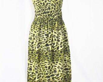 Summer CAMOUFLAGE MAXI DRESS