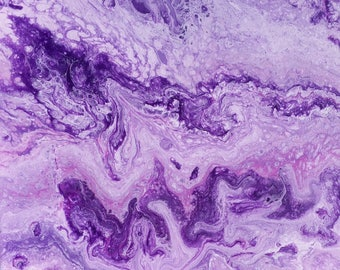 Abstract contemporary purple magenga unvarnishes painting- unique art by Rebecca Hurd