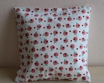 thin cushion - pattern love Apple - 24 x 24 cm - pillow cover