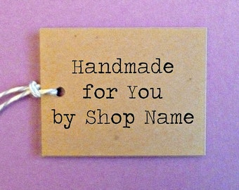 """Small Kraft Tags 1.5""""x 2"""" with twine ties . personalized gift, merchandise or clothing price tags . custom handmade for you tags . supplies"""