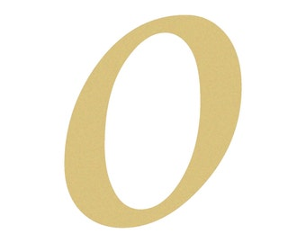 Unfinished LOWERCASE Letter (o) MONOTYPE Paintable