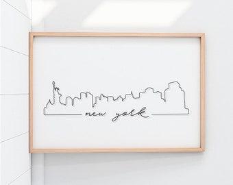 New York Skyline New York Printable New York New York Prints New York Cityscape New York Print New York Posters New York Wall Art NewYork