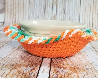 Microwave Bowl Cozy – Cotton Bowl Cozy – Soup Bowl Cozy – Microwave Bowl Hot Pad – Kitchen Accessory – Dorm Gift – Hostess Gift