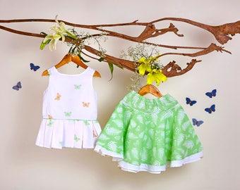 Butterfly Flutters skirt set