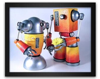 Slo-Herren and Slo-Damen Robot Pop Art Print