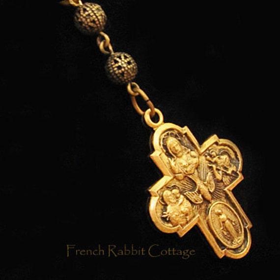 Catholic cross necklace pendant religious jewelry catholic mozeypictures Image collections