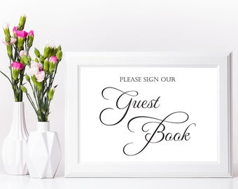 Wedding Sign, GUEST BOOK Sign, Wedding Signs, Reception Decor, Wedding Signage, Wedding Decorations, Reception Signs, Wedding Guest Book