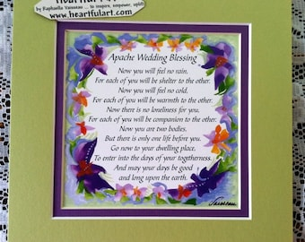 Apache wedding blessing 8x10 inspirational quote bride groom