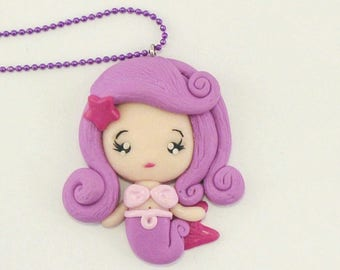 Sweet lilac Mermaid Necklace/sweet Mermaid lilac necklace