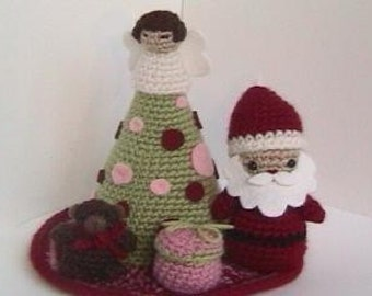 Sale - Amigurumi Crochet Christmas Pattern Collection Digital Download