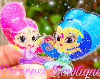 Shimmer and Shine centers, shimmer and shine ribbon, shimmer and shine, shimmer and shine resins