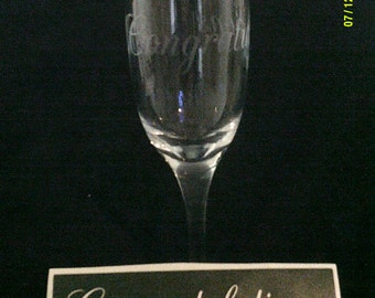 10 - 100 Congratulations word stencils for etching on glass   Brilliant for special gift