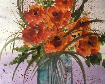Rose vase on mother's day