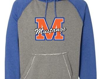 Vintage Heather Hooded Sweatshirt (Gray/Blue)