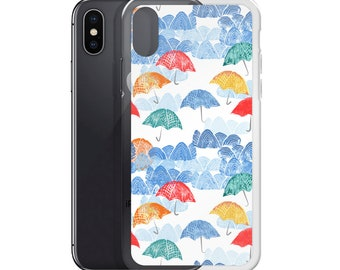 Umbrella Spring iPhone case - cellphone, mobile, spring, beach, rain, weather, pretty, nature, mother's day, sky, clouds, free US shipping
