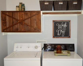 Wash and Dry Joanna Gaines Inspired Laundry Room Decor Fixer Upper Inspired Farmhouse Laundry Sign