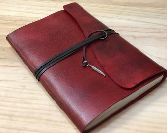 Leather Notebook, Journal, Sketchbook, Hand Dyed