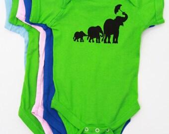 Elephant | Baby jumper | Infant Bodysuit | Baby Shower gift | Art by MATLEY | New born gift registry