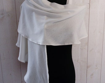 Stole, shawl, wool jersey, Bridal shawl, wedding shawl, Bridal shawl, winter wedding