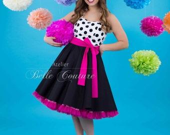 Nach Maß & handgefertigt - Jugendweihe Abiball Petticoat Kleid Art.: Miss Sweet