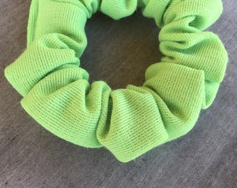 hair scrunchie / THE BIG GREEN / lime green / extra scrunch / 90s style