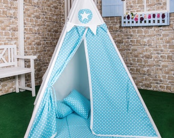 Play tent Goggly dots Blau complete set