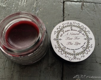 A Natural Tint For The Lips 1857 Godey's Ladies Book Tinted Lip Gloss