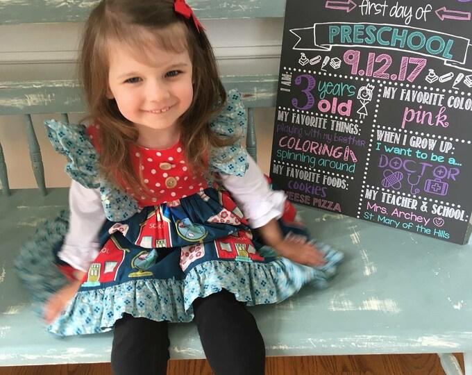 First Day of Preschool Chalkboard / First Day Chalkboard Sign /First Day of School Sign /First Day of Preschool Sign / Digital File