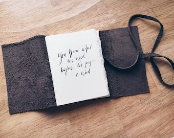 Handbound Leather Journal-Thin