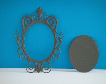 Cut grey mirror for scrapbooking and card frame