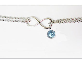 Something Blue Anklet- Wedding Something Blue Jewelry- Bride Something Blue- Something Blue for the Bride- Infinity Charm- Ankle Bracelet