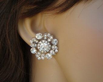 Bridal Earrings Stud Earrings Bridal Rhinestone Earrings Rhinestone Stud Earrings Bridal Jewelry wedding Rhinestone Earrings COLLEEN