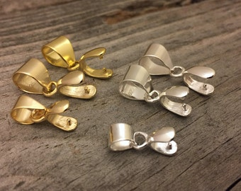 Sterling Silver Pinch Bail Gold Filled Pinch Bail Jewelry Findings Jewelry Supplies