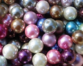 lot of 1000 beads 8 mm glass Pearl mix or color of your choice