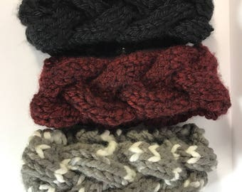Braided Knit Ear Warmer // Gifts For Her