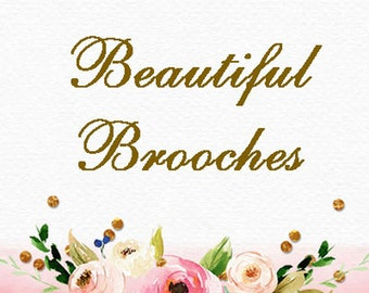 Brooches & Pins Section Marker